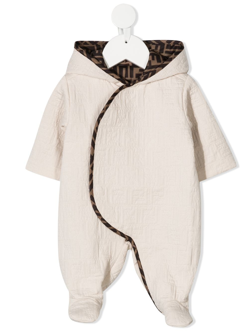 Fendi Kids FF logo lining pyjamas - Neutrals