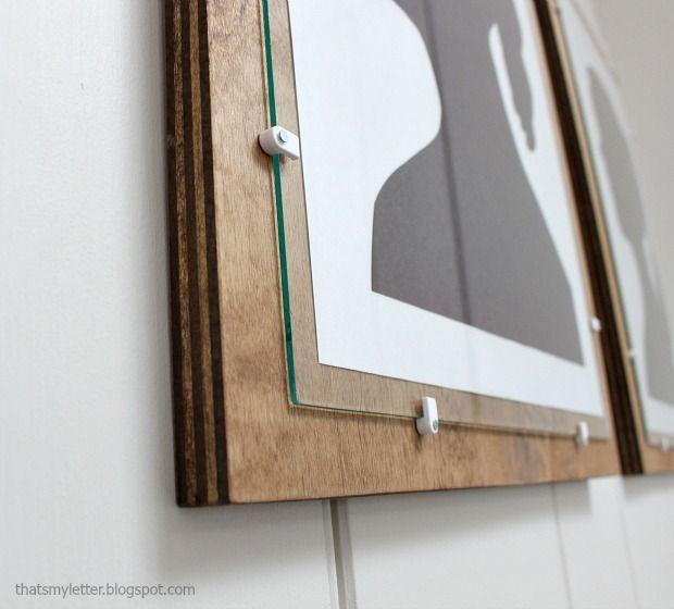 Diy Plywood Frame With Glass Decor Pinterest Diy Frame And