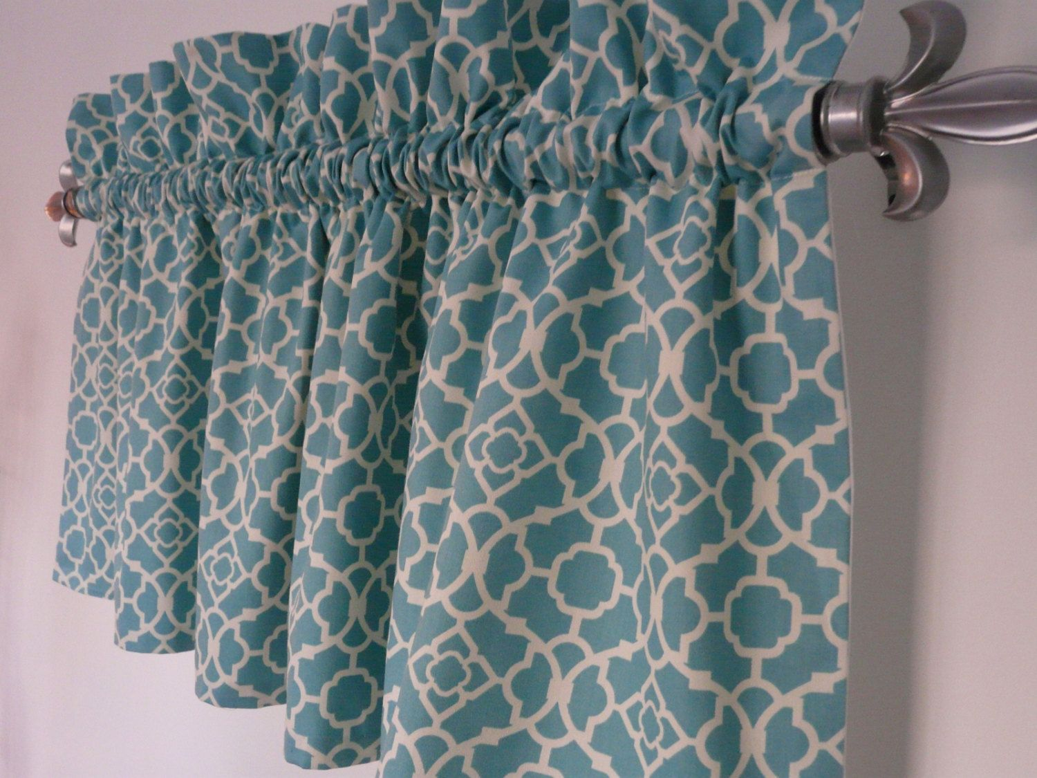 Turquoise Valance Waverly Lovely Lattice By PaisleyLadyBoutique 5500