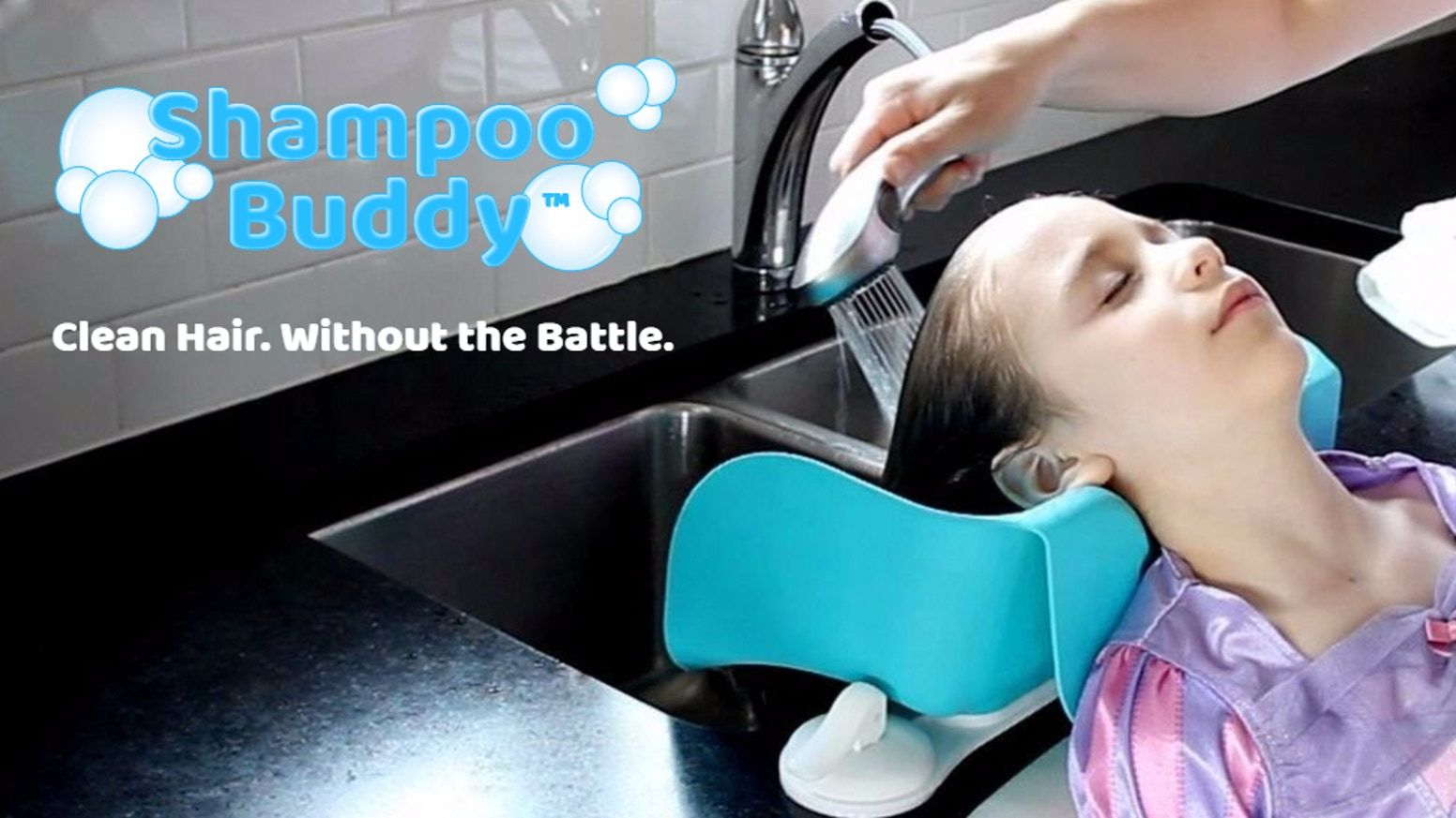 A Hair Rinsing Accessory Inspired By Salon Sinks That Keeps Soap