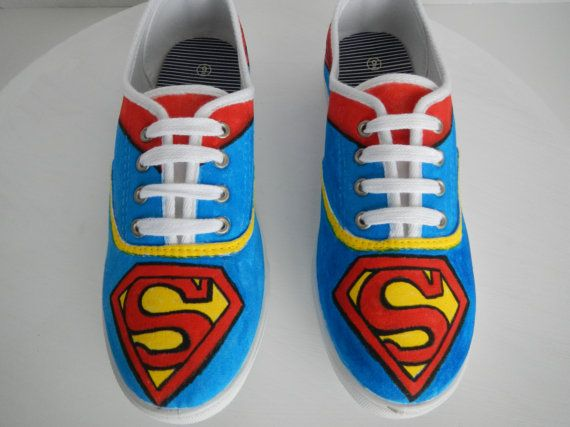 7007926315 Superman Cape Handcrafted Doodle Graffiti Sneakers Shoes on Etsy ...