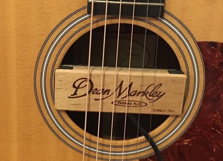Dean Markley Promag Plus Single Coil Acoustic Sound Hole Pickup Amplify Guitar Guitar Guitar Pickups Promag