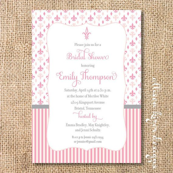 Fleur de Lis Printable Invitation by AllisonKizerDesigns