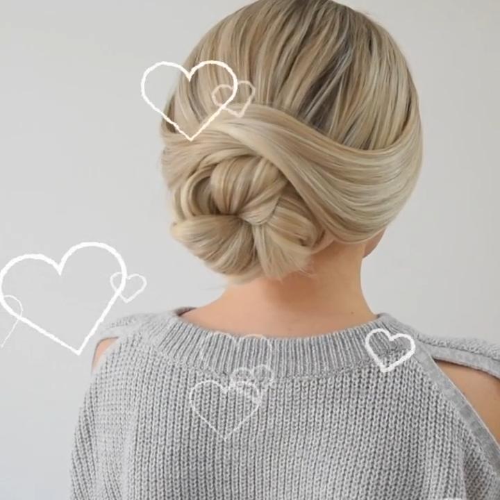 Easy Bun Hairstyle �