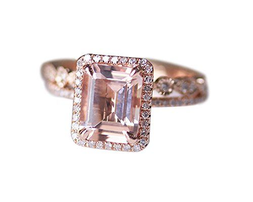 Rlovehome Emerald Cut 7x9mm 1.75ct Light Pink Natural VS Morganite Diamonds Promise Ring Set Engagement Ring Set Wedding Ring Set Anniversary Ring Set in Solid 14k Rose Gold (J) Rlovehome http://www.amazon.co.uk/dp/B01AXVHVFM/ref=cm_sw_r_pi_dp_sA77wb0VPVKBH
