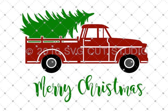 Old Truck With Christmas Tree.Christmas Tree Delivery Truck Svg Truck Svg Christmas