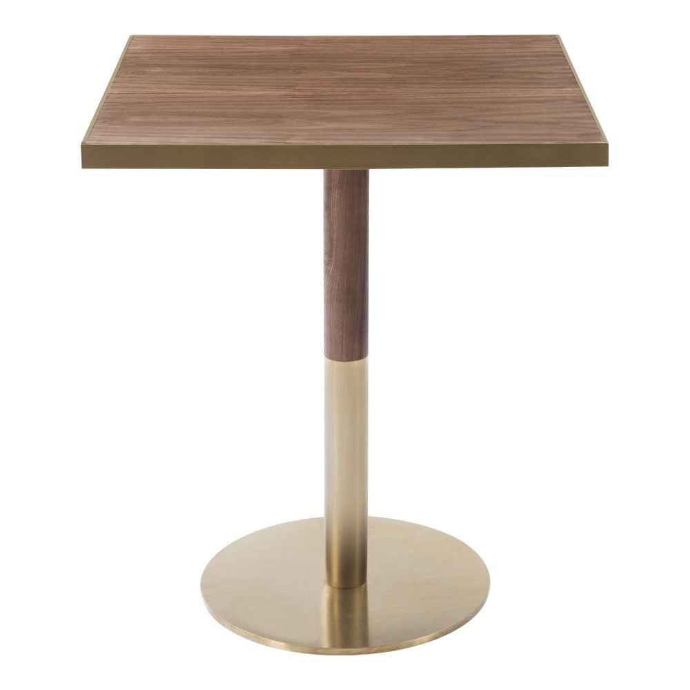 Industrial Living Square Cafe Table Mango Wood And Steel