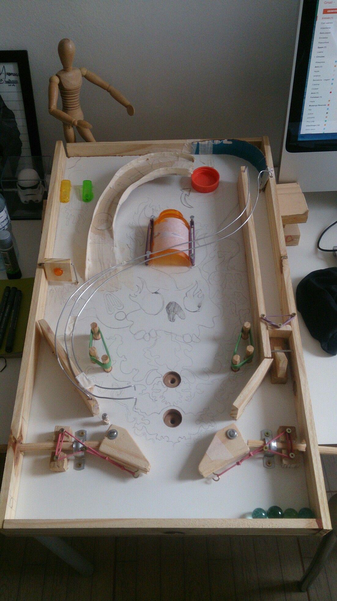 Homemade Pinball Machine Diy Pinball Homemade Arcade