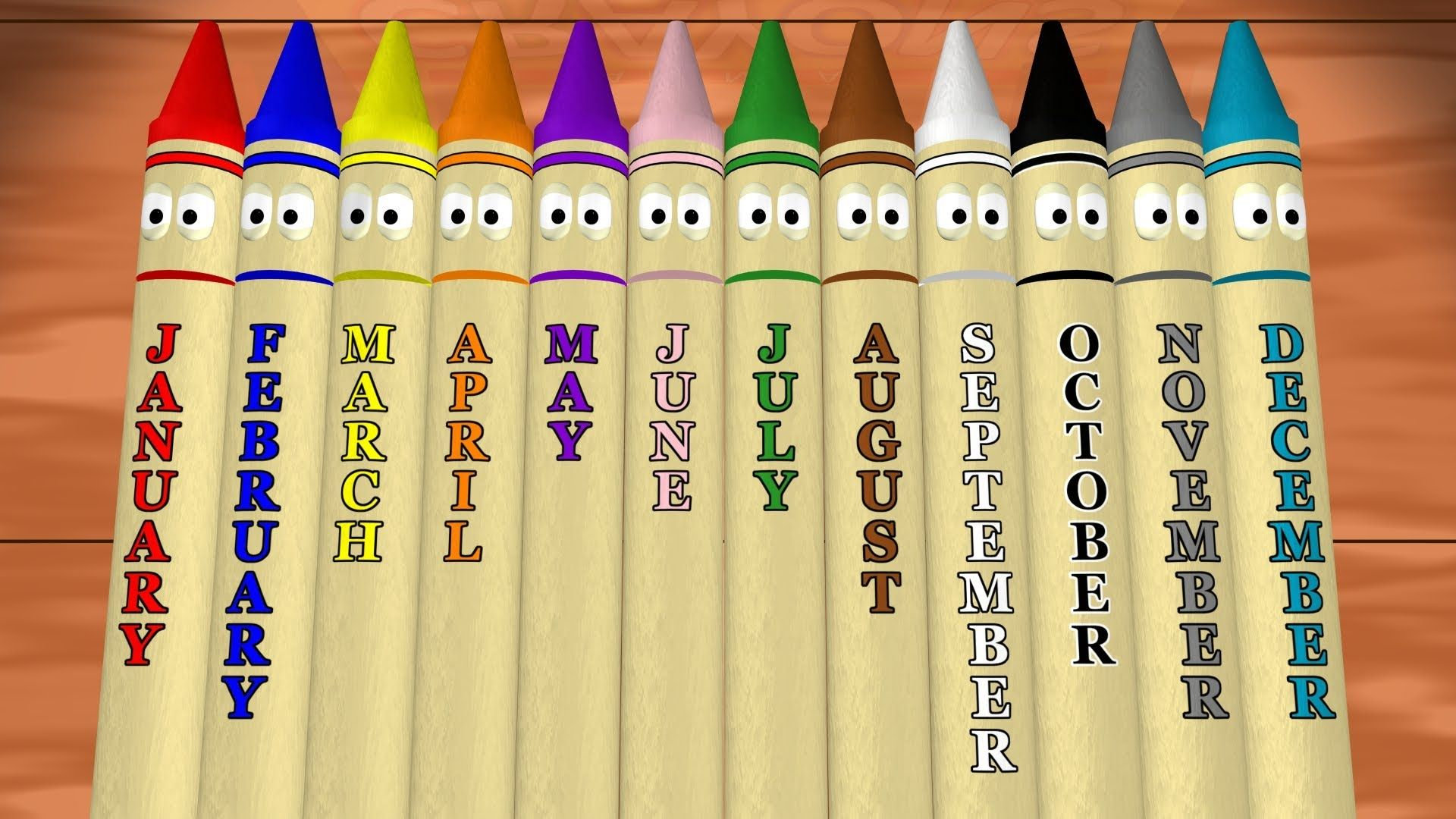 Start The New Year With A Calendar Lesson For Kids Twelve Talking Crayons Teach Months Of The
