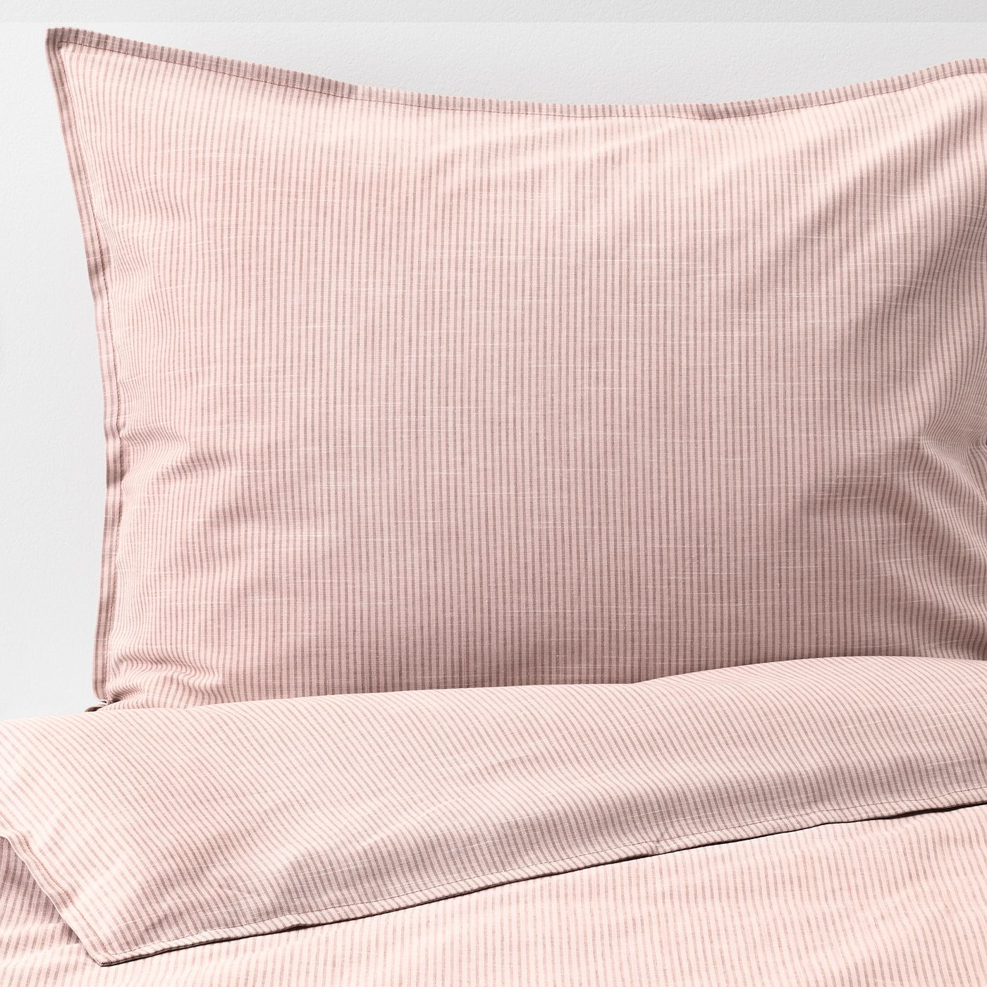 Bergpalm Duvet Cover And Pillowcase S Pink Stripe Full Queen