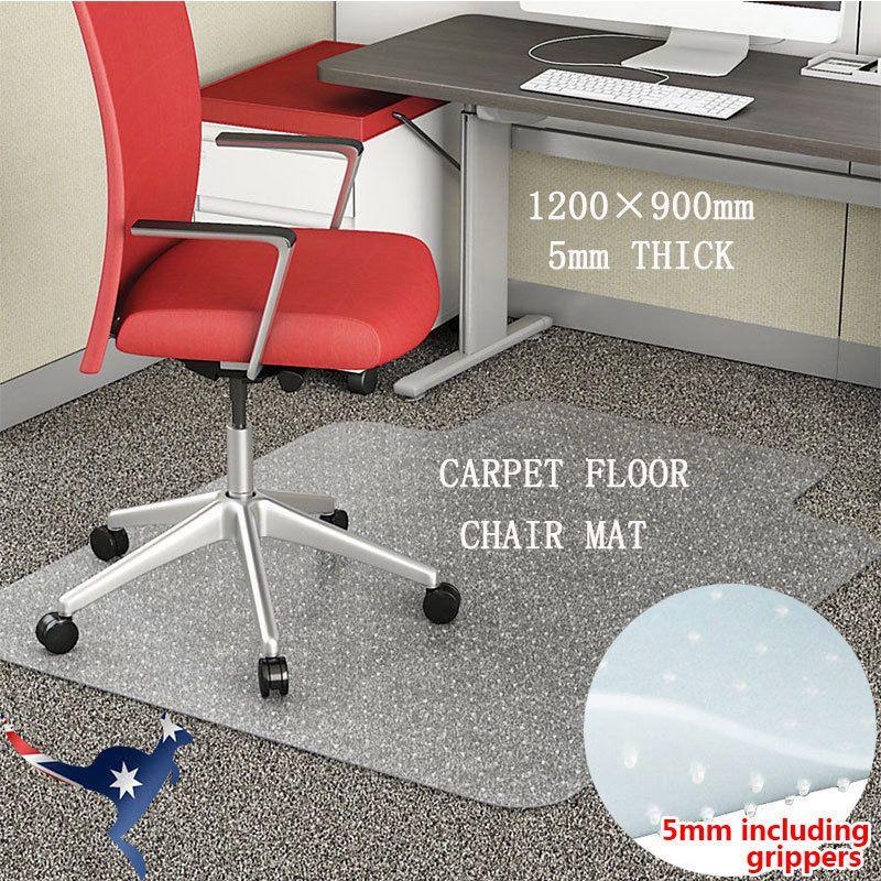 Au Ship Carpet Floor Office Computer Work Chair Mat Useful Plastic 1200 X 900mm Chair Mats Work Chair Carpet Flooring