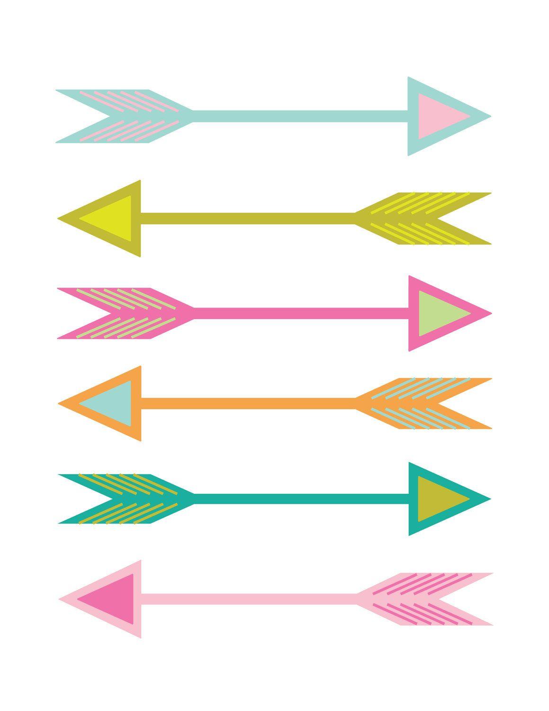 Neon Arrows Print Poster 15 00 Via Etsy Poster Prints Arrow