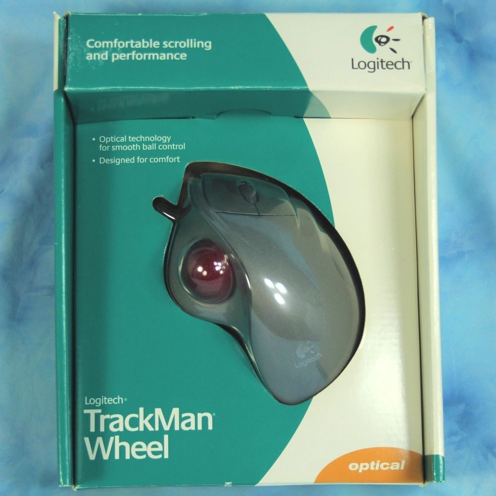 Logitech Optical TrackMan Wheel Wired PC MAC USB Mouse