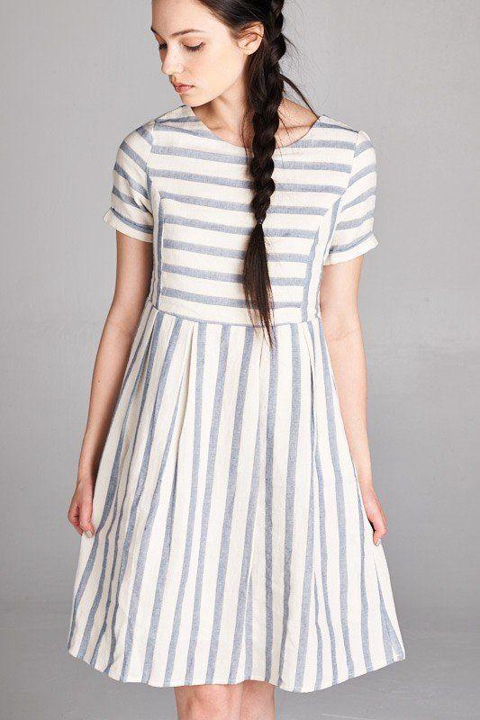 f29c1ef84 Lucy Striped Dress   Dresses in 2019   Dresses, Striped dress, Midi ...