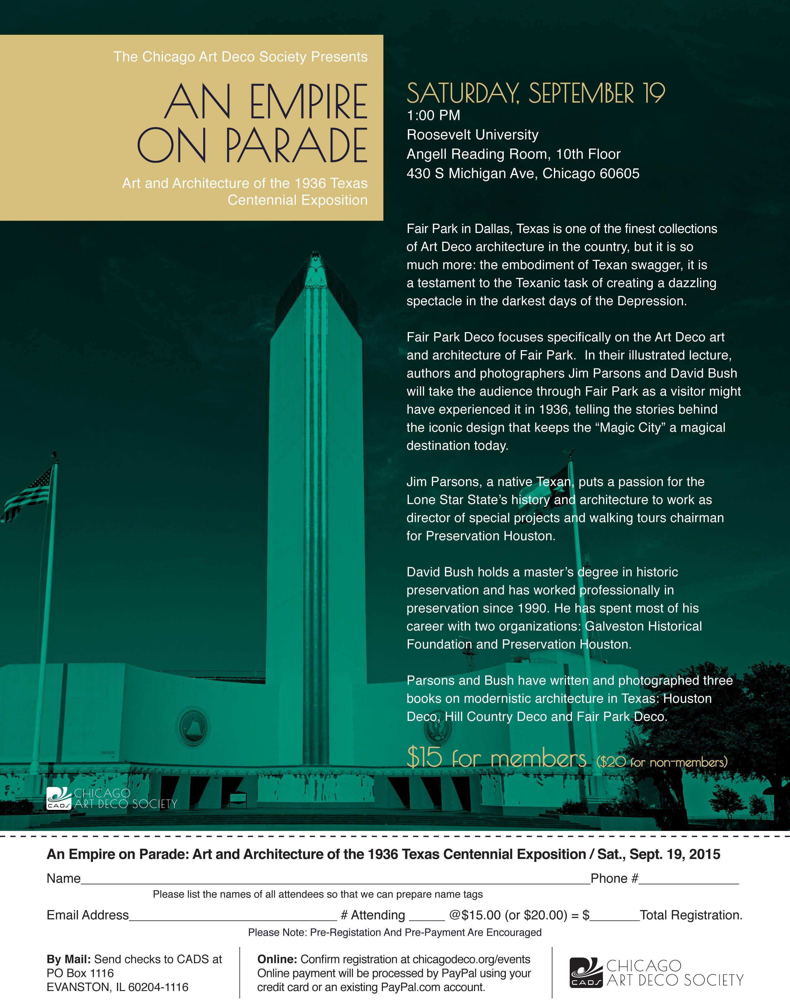 Roosevelt University Email >> Chicago Art Deco Society Events Chicago Art Art Deco Deco