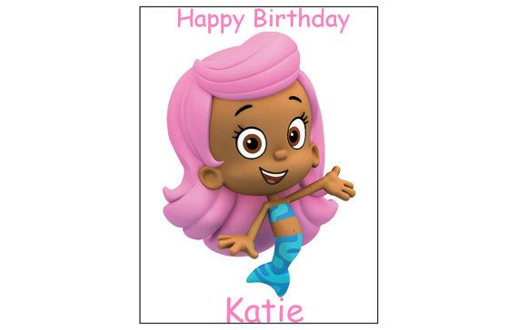 Bubble Guppies Characters EDIBLE image cake by FairymomsEdibles