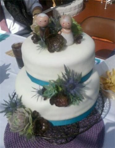 succulent wedding cake | Succulent Wedding Cake