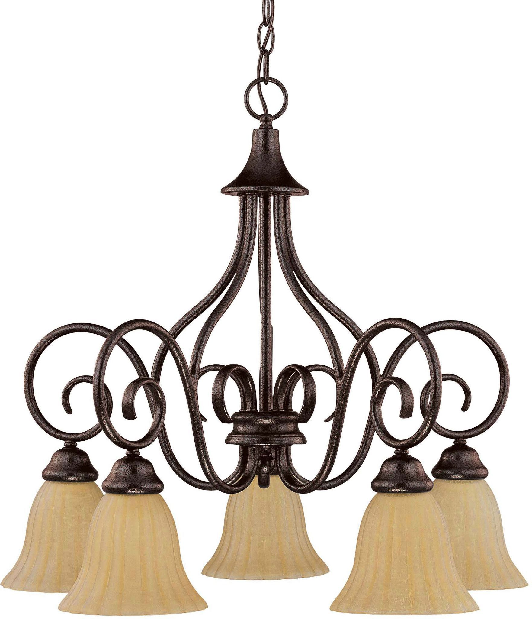 Nuvo Moulan ES - 5 Light Chandelier - Arms Down - (5) 13w GU24 Lamps Included