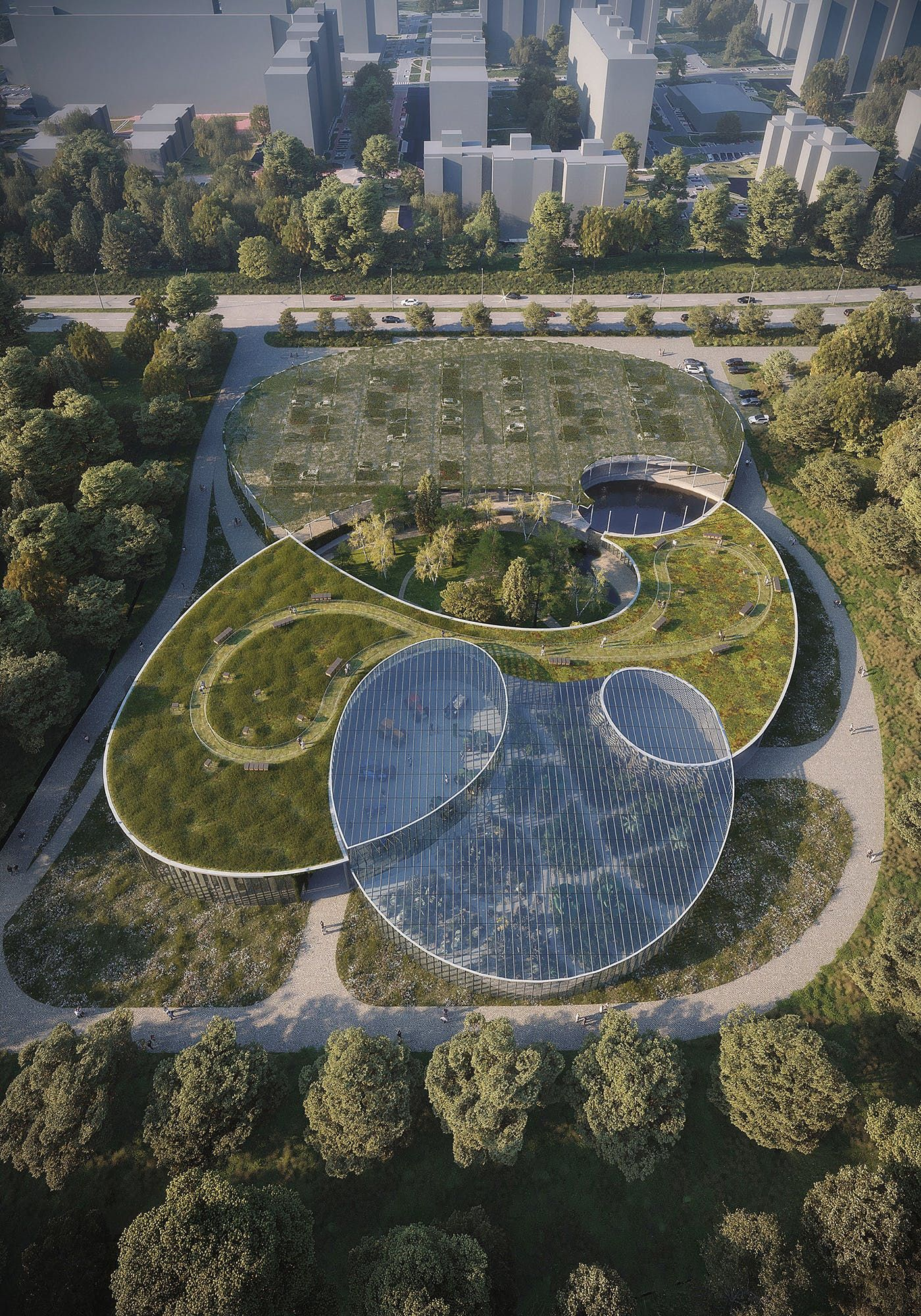 Fránek Architects to design greenhouse-like entrance building for Prague's Botanical Garden #botanicgarden