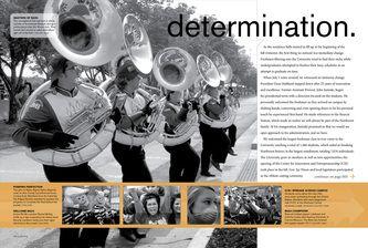 2008 - 2010 Tower Yearbook Page Design - Michael Duntz