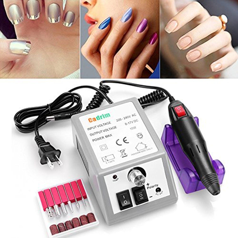 Cadrim Nail Drill Machine Professional Electric Nail Art Polisher ...