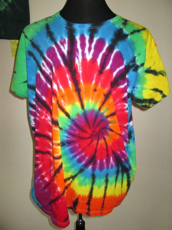 Ladies 3XLarge Tie Dye Tshirt Bright Spiral by AlbanyTieDye e70a0576d