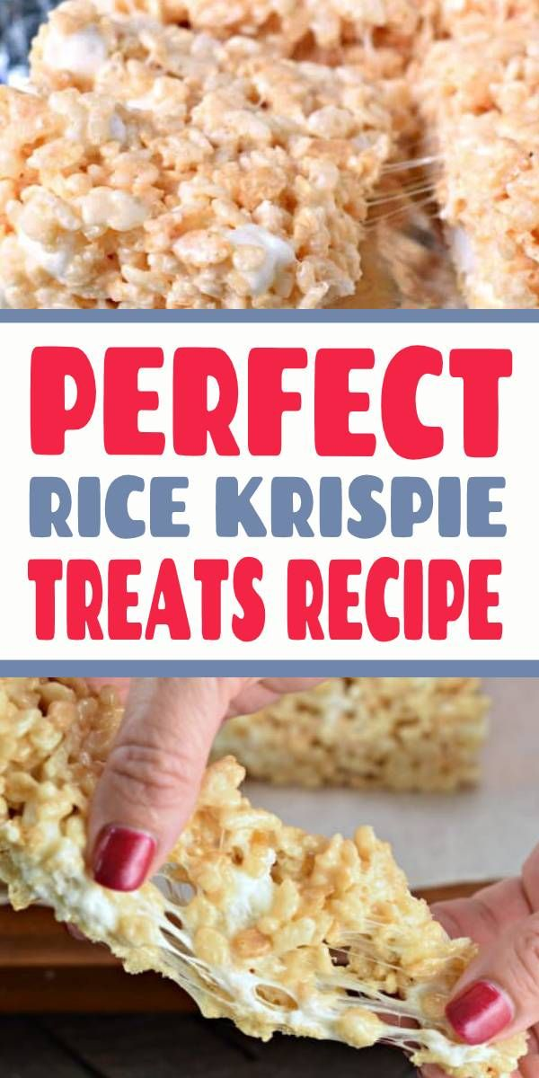 The Perfect Rice Krispie Treats Recipe Get the secret tips and tricks to making the most PERFECT Rice Krispie Treats. Kid and adult friendly! THICK AND CHEWY!