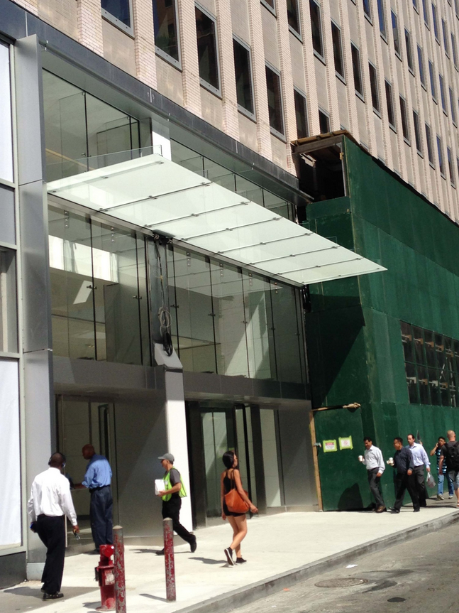 Glass Canopy On The Facade Of The 222 Broadway Lobby