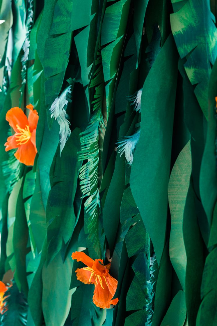 Tropical Leaf And Hibiscus Backdrop Jungle Flowers Backdrops