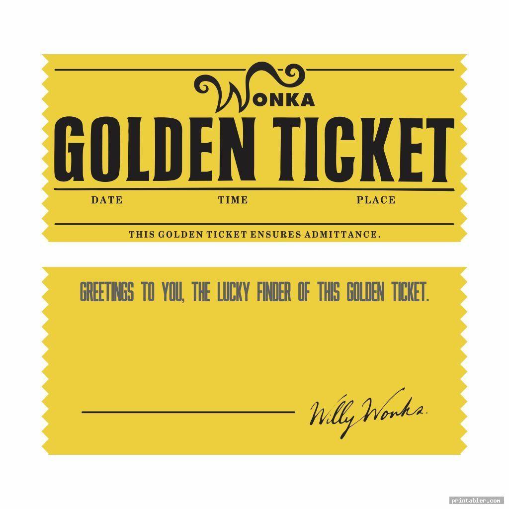 Editable Printable Wonka Golden Ticket Image Free Printabler Com Golden Ticket Golden Ticket Template Ticket Template Printable