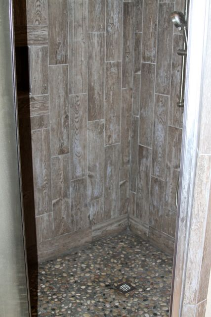 barn wood looking tile shower bing images industrial bathroom ideas pinterest tile. Black Bedroom Furniture Sets. Home Design Ideas