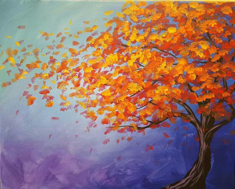 193 Rbol Fall Canvas Painting Autumn Painting Canvas