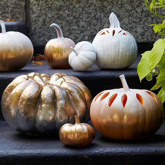 Creative Pumpkin-Carving Ideas and Patterns Ombre, Fall decor and - patterns for halloween decorations