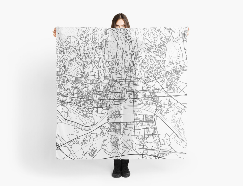 Zagreb Map Poster Print Wall Art Croatia Gift Printable Home And Nursery Modern Map Decor For Office Map Art Map Gifts Scarf By Marzzgraphics Map Art Map Decor Modern Map