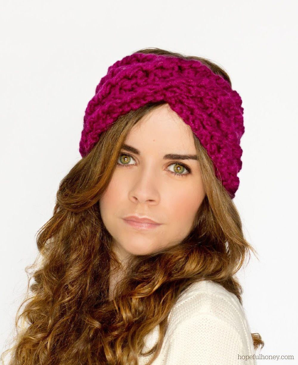 A Twist of Fate Headband   Tejido gancho, Accesorios para el cabello ...