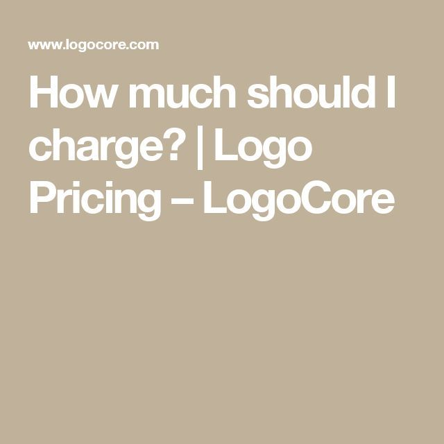 How much should I charge? in 2020 | Logo design, Logos ...