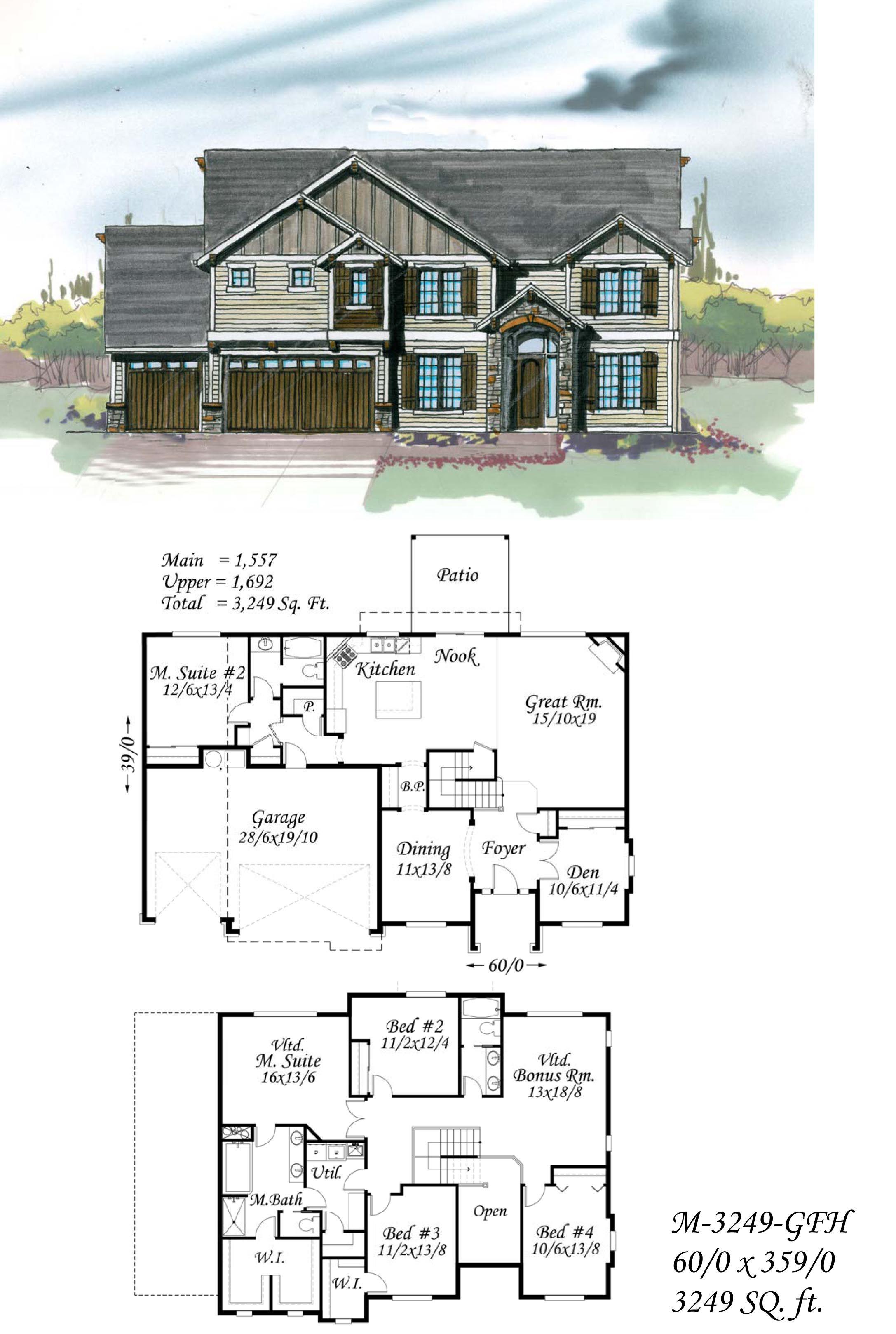 Plan M-3249GFH from Mark Stewart Home Design. | Mark\'s Favorites ...