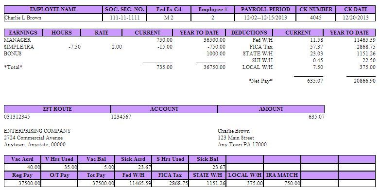 Blank Pay Stub Template Word pay stub templates in word