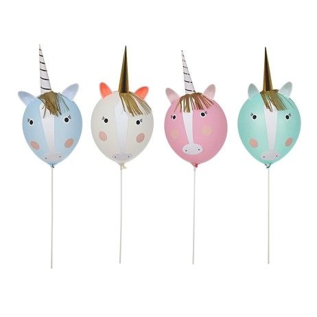 kit diy 8 ballons licornes ajoutez un peu de magie votre. Black Bedroom Furniture Sets. Home Design Ideas