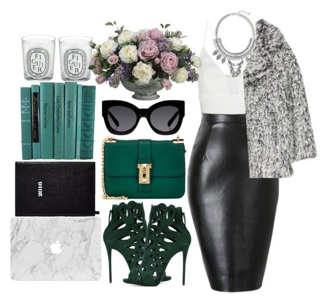 """""""#241"""" by vilte-m ❤ liked on Polyvore featuring Diptyque, Narciso Rodriguez, Valentino, Leith, H&M, Sloane Stationery, Giuseppe Zanotti, Allstate Floral and Karen Walker"""