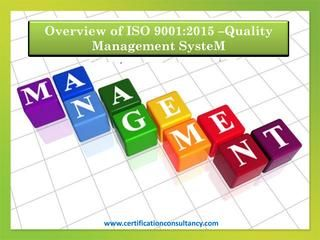 Quality Management System - ISO 9001:2015 | ISO 9001:2015