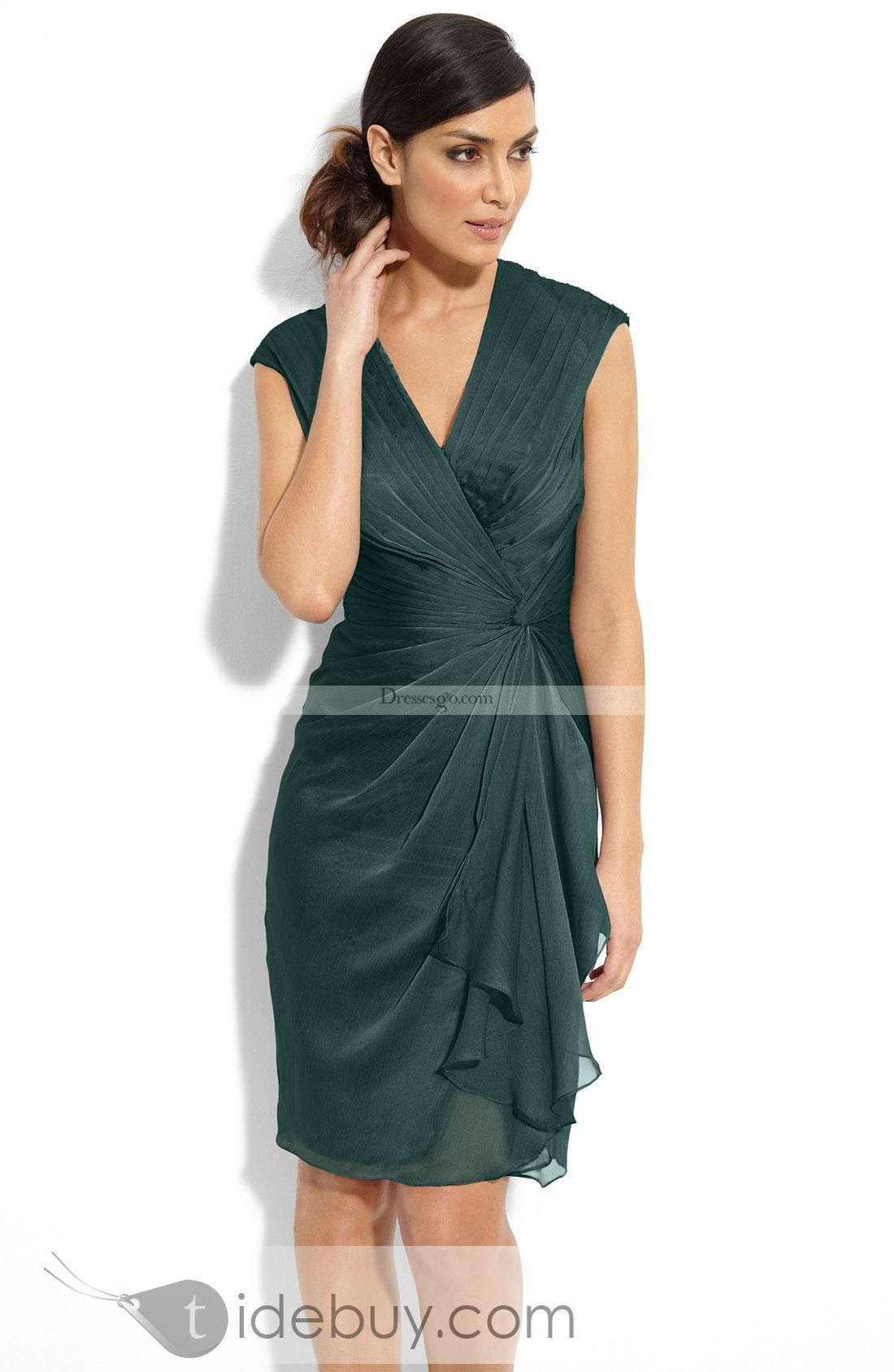 fd781f71fbdb ... Knee-length Pick-up Chiffon Mother OF the Bride Dress Mother of the  Bride Dresses Wedding Party Dresses Buy High Quality Dresses from Dress  Factory