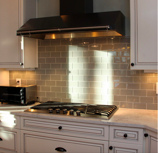 """Kitchen Backsplash Ideas A Splattering Of The Most: Looking For A Springtime Spruce Up. Adding A 3x6"""" Glass"""
