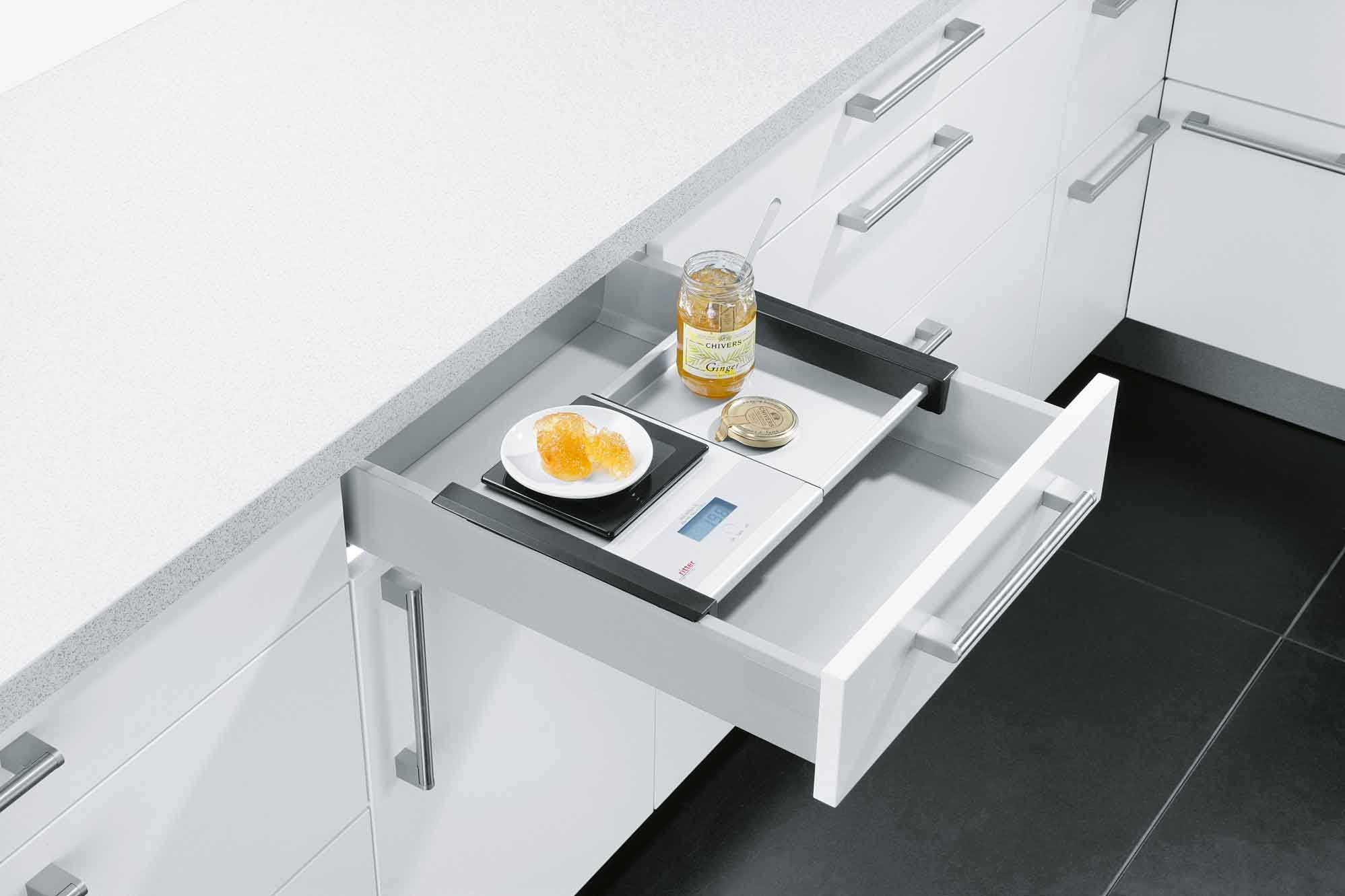 Integrated Scales German Kitchen Units From Contur Kitchen