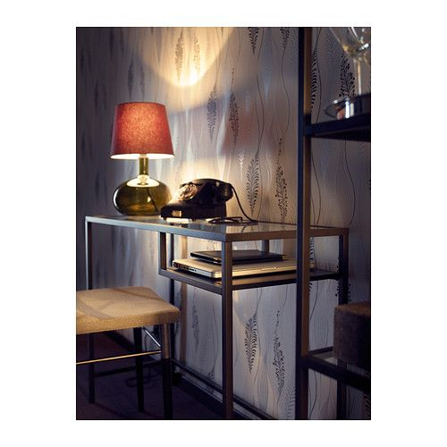 Vittsj table pour portable brun noir verre laptop table - Console en verre ikea ...