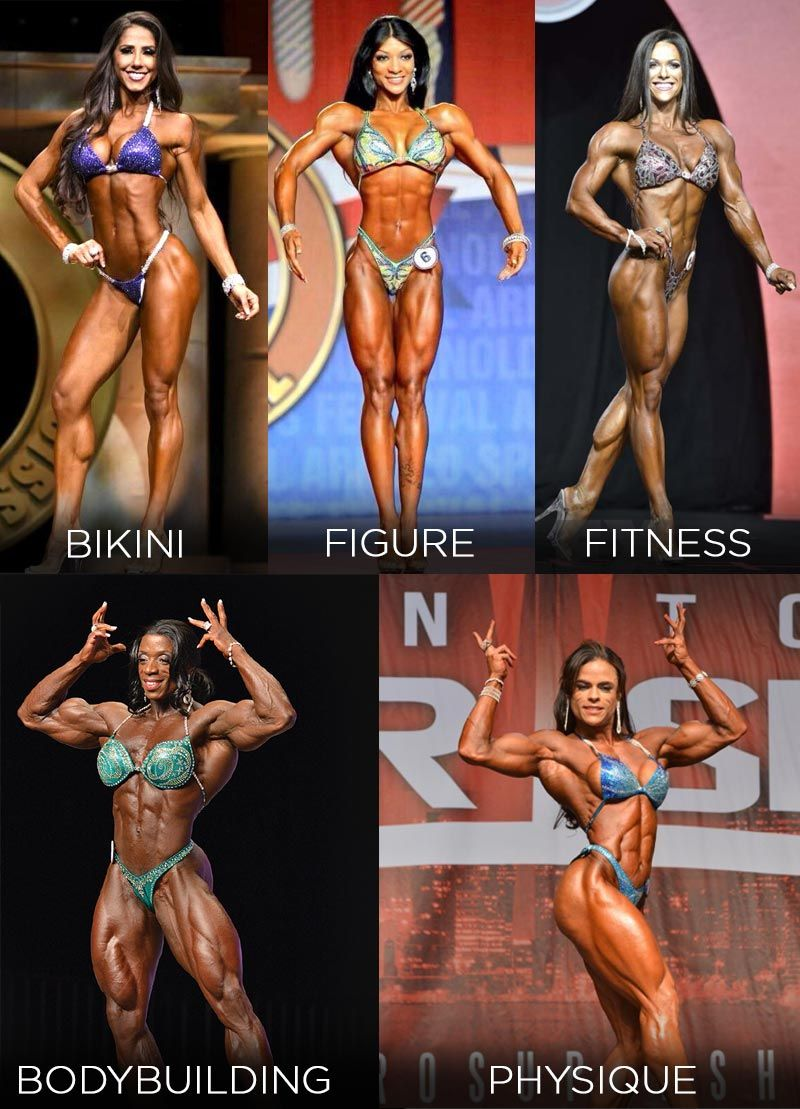 female physique competitor