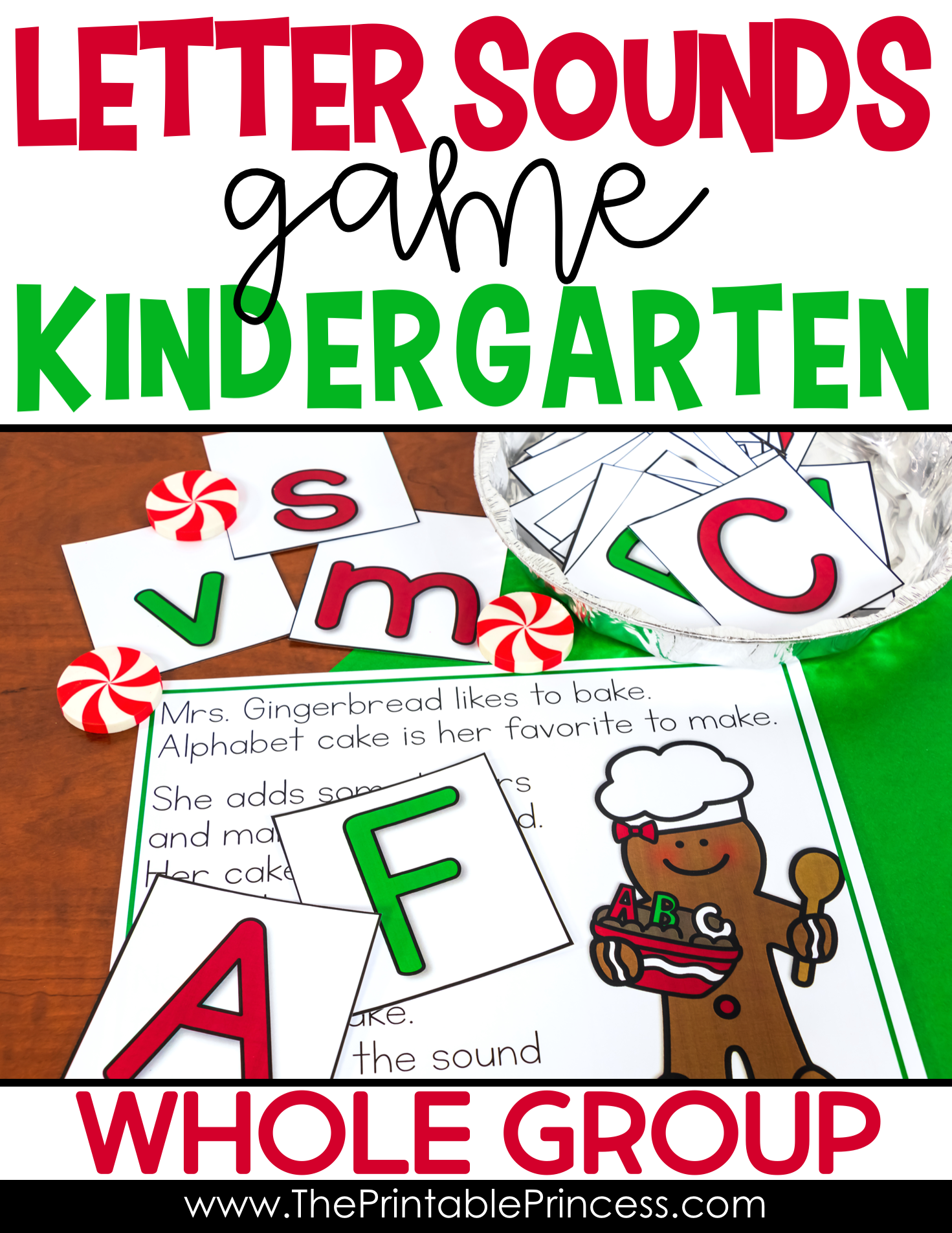 Gingerbread Activities Letter Sounds Practice