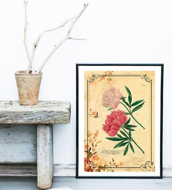 Flowers ref.08 - Vintage, neo retro, Plants, Paris, fashion ...