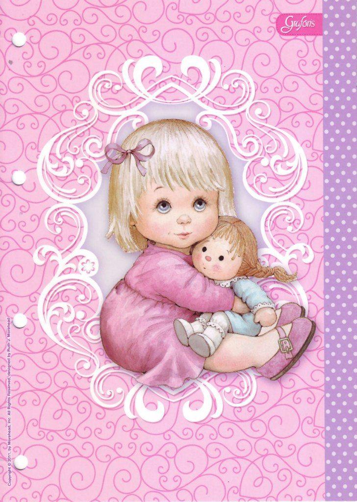 Подружке раскраска, открытка милая малышка