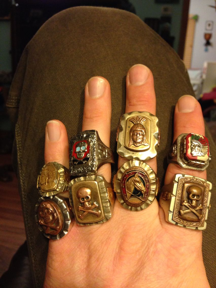 Pin on Mexican biker rings